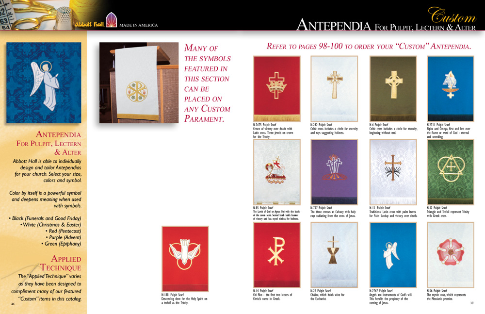 Create Your Own Antependia Sets - Abbott Hall