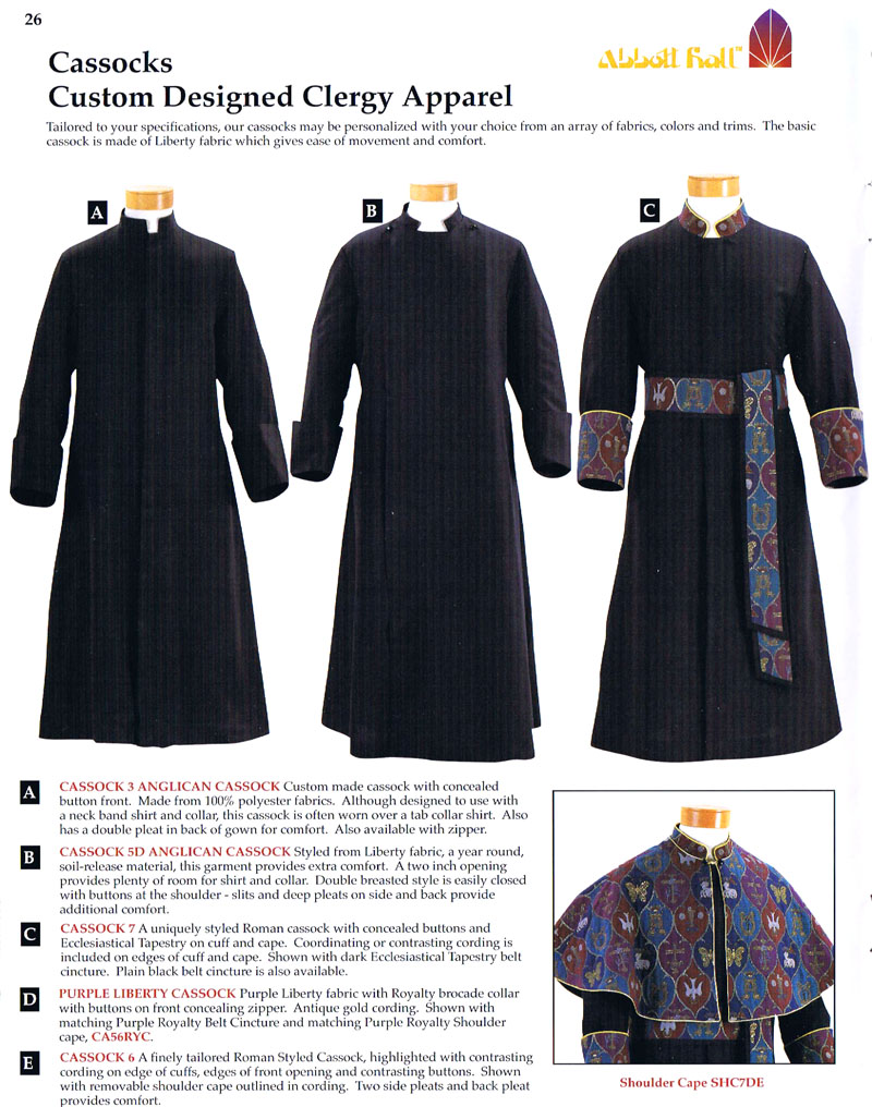 Cassocks | Abbott Hall