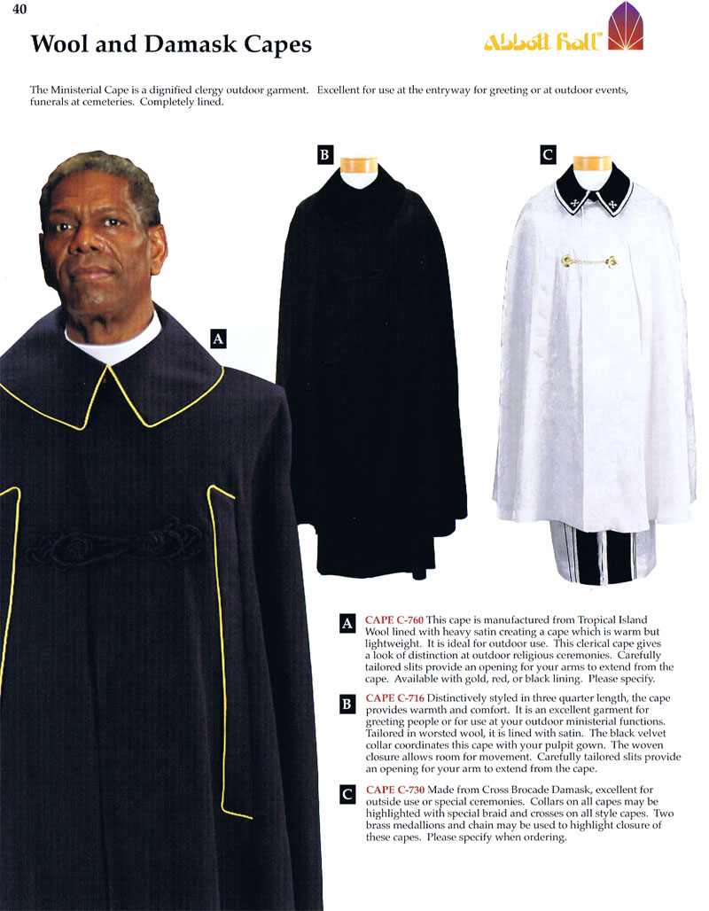 Clergy Capes | Abbott Hall